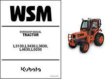 Kubota L3130 L3430 L3830 L4630 L5030 Tractor Service Repair Workshop Manual CD