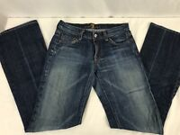 7 Seven For All Mankind Denim Blue Jeans Bootcut Med Wash Woman's Sz W 25 L 30