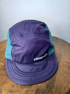 Patagonia Airdini Hat Nylon Size Large Blue Purple Green Lightweight Packable