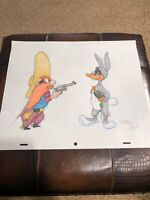"Virgil Ross Sketch - Daffy Duck And Yosemite Sam. Signed 12.5x10.5"""