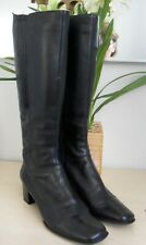 CLARKS BLACK LEATHER KNEE HIGH BOOTS SIZE 6.5