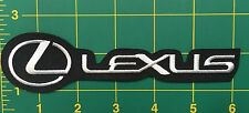 new LEXUS EMBROIDERED PATCH IRON ON or SEW, Motor Sports Racing Car Automobile