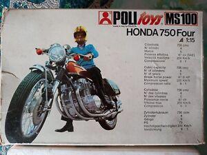 Polistil Ms 100 / Honda 750 cc. Four / Original Box 1975 (Wie Fotos) Skala 1:15