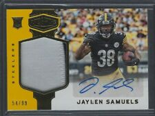 Jaylen Samuels 2018 Panini Plates & Patches Relic AUTO 54/99 Pittsburgh Steelers