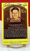 JOHNNY MIZE PSA / DNA AUTHENTIC SIGNED SIGNATURE AUTO / HOF PLAQUE POSTCARD 1981