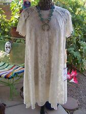 NWT~$129~Beauty~Elegant Cream Lace Formal Dress~Plus Size 14/12~Rachel Roy