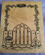 New ListingGarden Gate, Rubber Stamp, New