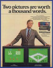 Vintage 1981 INTELLIVISION Game Console Mattel Electronics Print Ad 80's