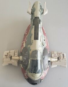 STAR WARS BOBA FETT'S SLAVE I ATTACK CRAFT WITH HAN SOLO IN CARBONITE ACCESSORY