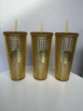 More details for starbucks 2020 china 24oz gold studded venti tumbler with straw