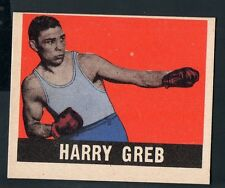 1948 Leaf Boxing Card #20 Harry Greb-Middle and Light Heavyweight-Grey Back
