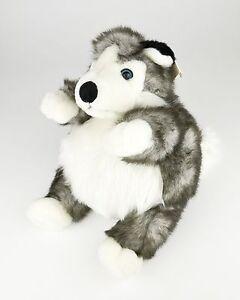 "Unipak Designs 9"" Plumpee Husky Dog Plush Stuffed Animal for Kids Toy Siberian"
