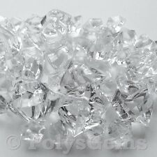 50 MIXED CLEAR ACRYLIC ICE CHUNKS VASE FILLERS WEDDING TABLE DECORATIONS