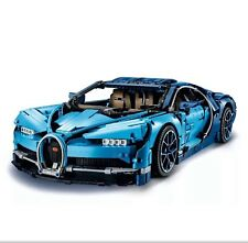 New Sealed 2018 Custom Technic Bugatti Chiron Blue Racing Car 42083