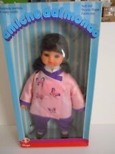 RARE VINTAGE MADE IN ITALY FURGA AMICHE DALMONDO 18 INCHES DOLL,SOFT,SLEEPY EYES