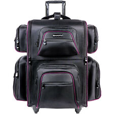 SHANY Total Jetsetter Travel Makeup Bag Case with Multiple Compartments - BLACK