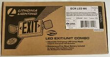 Lithonia Lighting Ecr Led M6 Emergency Exit Signled Exitunit Combo New In Box