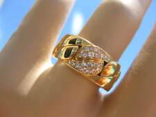 CARTIER LA DONA LADONA DONNA 18K YELLOW GOLD DIAMOND BAND RING SZ 51 CERTIFICATE