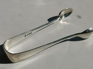 Antique Victorian Hallmarked Silver Sugar Tongs By James Deakins- 1900.
