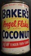 "CIRCA – 1950's BAKER'S Angle Flake Coconut Tin ""FULL"" ""New Old Stock"""