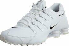 New Nike Shox NZ Men Size 11 Running Shoes White/Black 501524 106 *B GRADE*