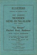 RUSHMERE:1946 Modern Semi-Bungalow 'La Rocque'-sale particulars
