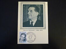 FRANCE PREMIER JOUR FDC N° 1825 E . MICHELET  0,80+0,20F BRIVE LA GAILLARDE 1975