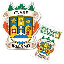 Clare Ireland County Decal Sticker Irish GAA Auto