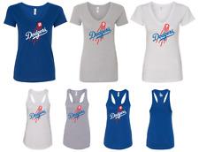Los Angeles Dodgers Classic Vintage Ladies SlimFit Deep V-Neck or Racerback Tank