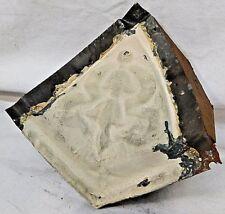 Antique Tin Ceiling Cornice Corner - C. 1890 Ribbon Design Architectural Salvage