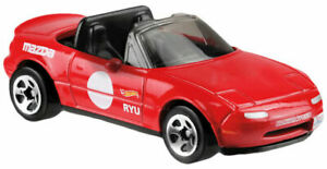 184 - 2019 Hot Wheels - 1991 Mazda Miata MX5 MX-5 NA Die-Cast Car Red Mazdaspeed