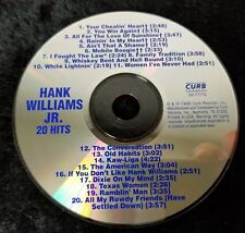 Audio CD - HANK WILLIAMS JR. - 20 Hits - Like New (LN) WORLDWIDE SHIP