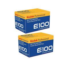 NEW  2 Rolls Kodak E100 EKTACHROME 35mm 135-36 Color Slide Film 10/2020