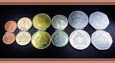 GAMBIA UNC SET OF 6 COINS 1 5 10 25 50 BUTUTS 1 DALASI 1998 - 2014
