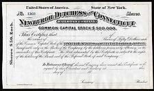 18 __ New York, EE. UU.: Newburgh, Dutchess and Connecticut Railroad Company