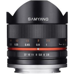 Ex-Demo Unboxed Samyang 8mm F2.8 UMC Fisheye II Lens in Fuji Fit