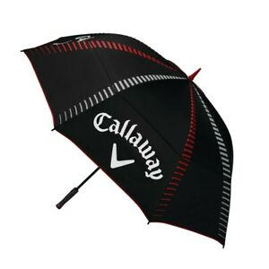 "New Callaway Tour Authentic Double Canopy 68"" Golf Umbrella Black / Red / White"