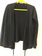 The Black Sweater company size M black cashmere wrap over jumper IMMACULATE