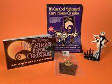 1993 Tim Burton NIGHTMARE BEFORE CHRISTMAS Jack + Flip Book + Key Ring Disney