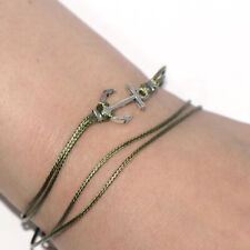 Bracelet Foot Beach Jewelry 10 Inches Green anchor Charm Womens Mens Anklet