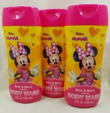 Disney Junior Minnie Mouse Body Wash Bow & Berry Scent Lot of 3