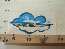 STICKER,DECAL KLM BOEING 747 ROYAL DUTCH AIRLINES VINTAGE STICKER LARGE