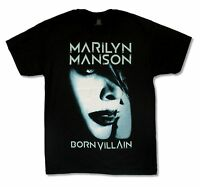 MARILYN MANSON BORN VILLAIN ALBUM COVER TOUR 2012 BLACK T SHIRT NEW OFFICIAL