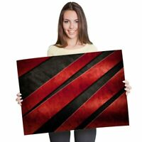 A1 - Funky Red Imitation Metal Poster 60X90cm180gsm Print #3901
