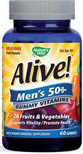 Alive! Men's 50+ Gummy - 60 Gummies Natural Fruit Flavors - Nature's Way
