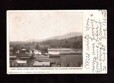 Postcard Tunkhannock PA View Looking Across River  Wyoming County