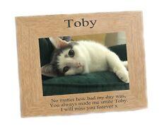 Cat Memorial Photo frame landscape fits  6 x 4   engraved  Personalised Keepsake