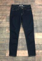 Levi's 711 Skinny Jeans Dark Indigo Womens Size 26
