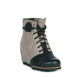 NEW Sorel PDX Wedge Boots Booties Black Womens Size 10 M US