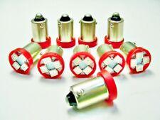10 Pontiac *BRIGHT* Red 12V LED Instrument Panel BA9S 1815 Light Bulbs 1895 NOS